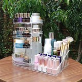 Factory supply rotary acrylic dressing table lipstick finishing box transparent cosmetic storage box