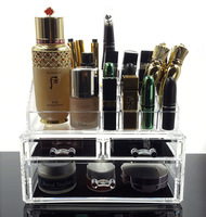 Glass cosmetic storage box Makeup rack Acrylic plastic transparent box transparent drawer display st